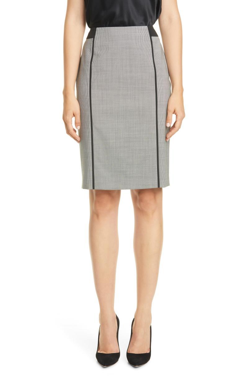 BOSS BOSS Veriba Minidessin Stretch Wool Pencil Skirt. Image via Nordstrom.