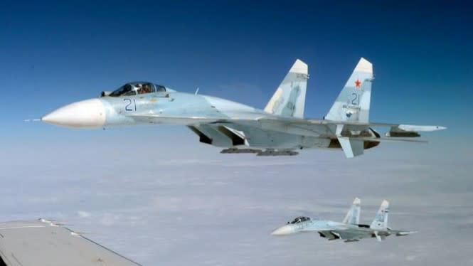Dua Jet Tempur Rusia Usir F-16 Milik Belgia di Laut Baltik