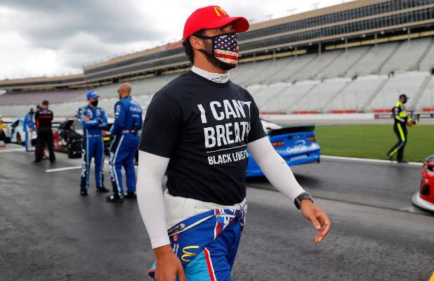 NASCAR Driver Bubba Wallace Calls for Confederate Flag Ban at Racetracks