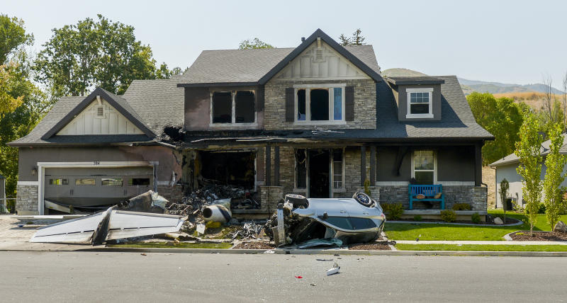 Utah man Duane Youd crashes plane into home after being arrested over fight with wife.