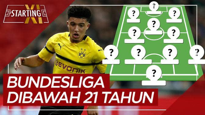 MOTION GRAFIS: Starting XI Pemain Paling Berharga Bundesliga di Bawah 21 Tahun, Ada Erling Haaland dan Jadon Sancho