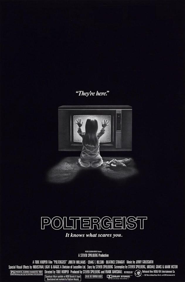 """<p>What better way to get into the Halloween spirit than watching this classic '80s horror flick? In case you've never seen it, <em>Poltergeist</em> is all about a young family whose home is visited by ghosts. They seem friendly enough at first, but let's just say…they don't stay that way.</p><p><a class=""""body-btn-link"""" href=""""https://www.netflix.com/watch/864808?trackId=13752289&tctx=0%2C0%2C5479c71414e783106a9921d77220e81b2eff9798%3A42ca539f0e1c1ea80b2a89731373a81c497c2d83%2C5479c71414e783106a9921d77220e81b2eff9798%3A42ca539f0e1c1ea80b2a89731373a81c497c2d83%2C%2C"""" target=""""_blank"""">Watch Now</a></p>"""