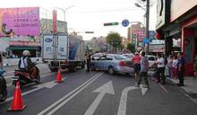 衝撞6車釀5傷!台中遊覽車疑煞車失靈 司機肇事火速閃人