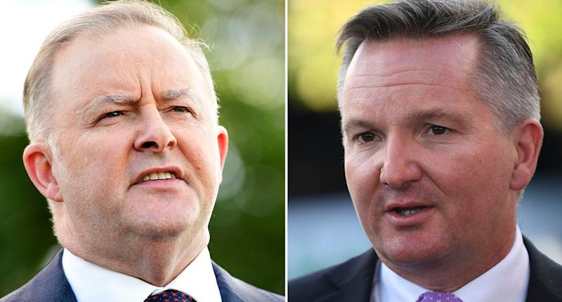 Anthony Albanese (left) and Shadow Treasurer Chris Bowen (right) are confirmed candidates for the Labor Party leadership.