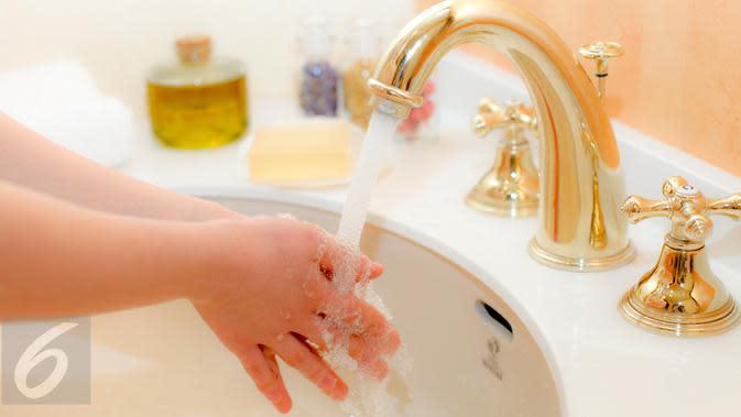 Ilustrasi mencuci tangan (iStockphoto)