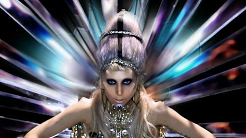 """In this music video image released by Interscope Records, a sceen from Lady Gaga's """"Born This Way"""" video is shown. The video is nominated in the new category Best Video with a Message at the 2011 MTV Video Music Awards on Sunday Aug. 28, 2011. (AP Photo/Interscope Records)"""