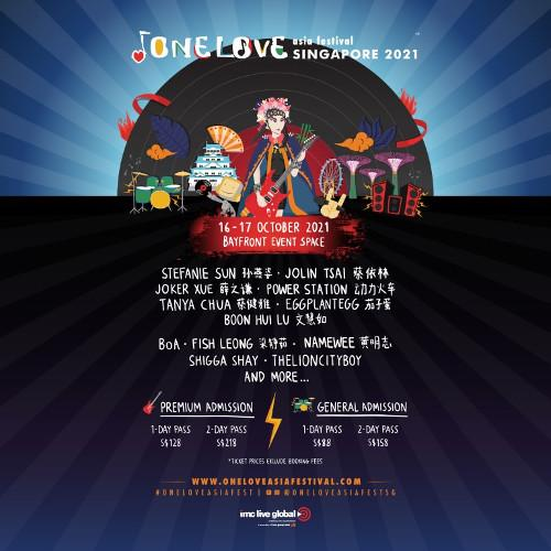 One Love Asia Festival will debut in Singapore before heading to Osaka next!
