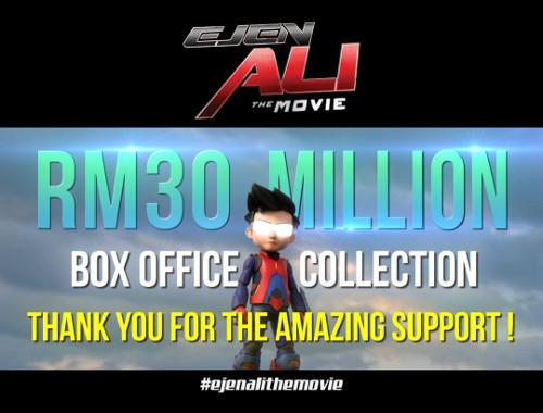 """""""Ejen Ali: The Movie"""" has replaced """"BoboiBoy Movie 2"""" as the highest-grossing local animated film."""