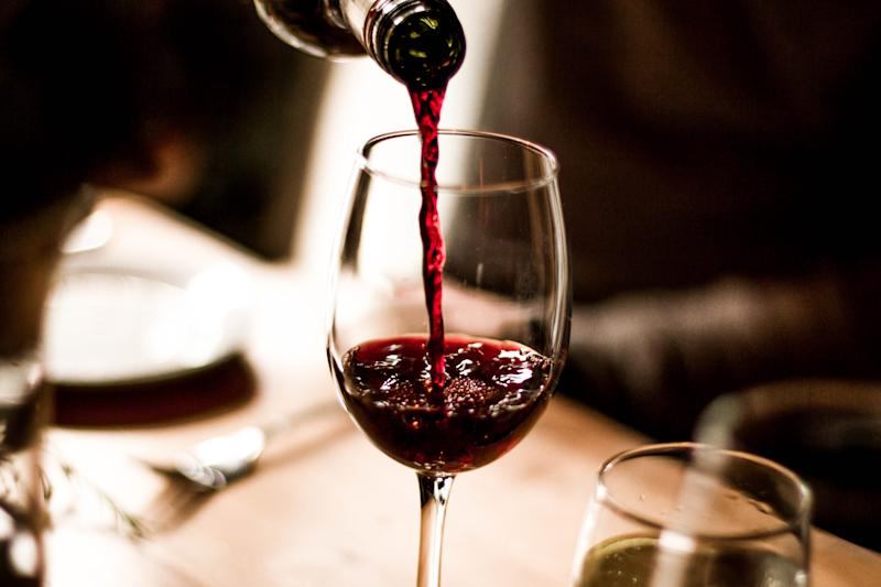 According to a new study, it's not just the alcohol in red wine which helps you relax. [Photo: Getty]