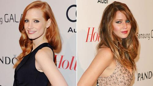 Jessica Chastain denies divide with Oscar competition Jennifer Lawrence