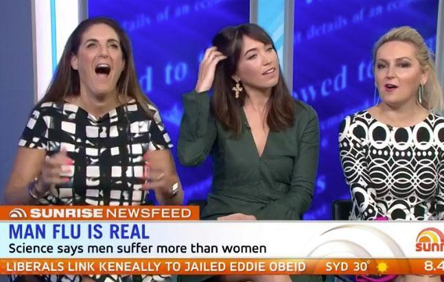 Panellists Jackie Frank, Kristie Mercer and Melissa Hoyer were outraged by Kochie's comments. Source: Channel Seven