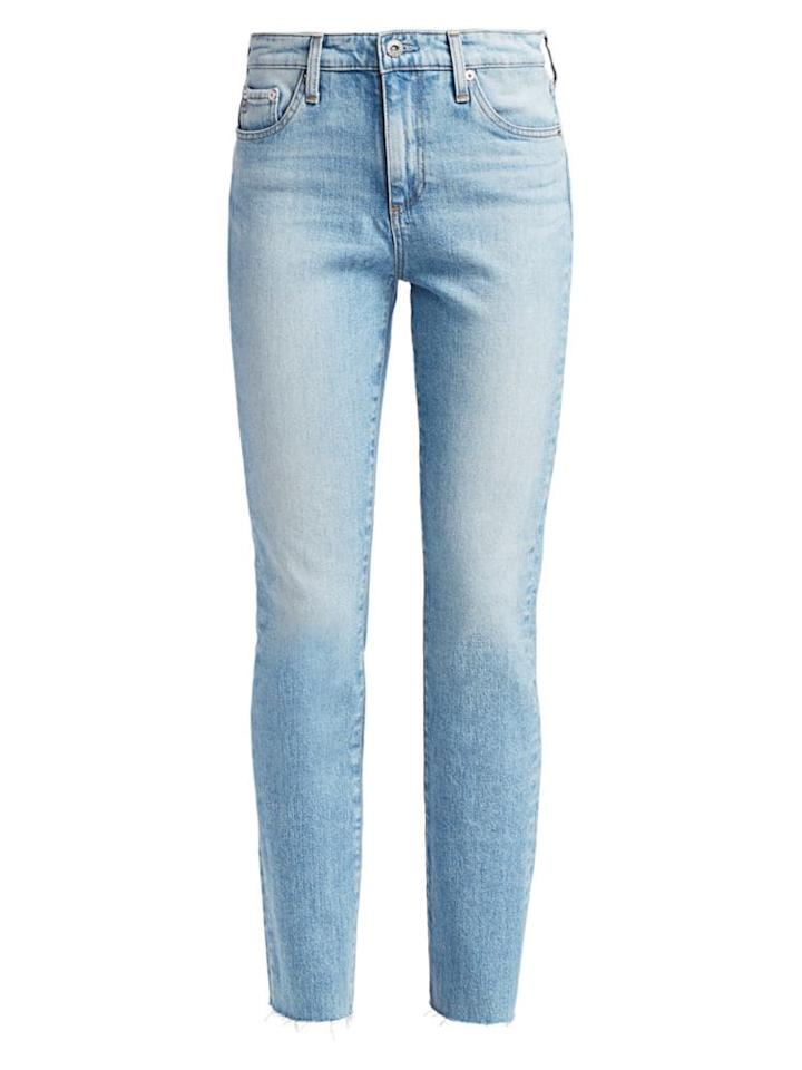 """<p><strong>AG Jeans</strong></p><p>saksfifthavenue.com</p><p><strong>$161.25</strong></p><p><a href=""""https://go.redirectingat.com?id=74968X1596630&url=https%3A%2F%2Fwww.saksfifthavenue.com%2Fag-jeans-mari-slim-straight-jeans%2Fproduct%2F0400012200198&sref=https%3A%2F%2Fwww.harpersbazaar.com%2Ffashion%2Ftrends%2Fg31902874%2Fsaks-spring-2020-sale%2F"""" target=""""_blank"""">Shop Now</a></p><p>Vintage-cut jeans are a must.</p>"""