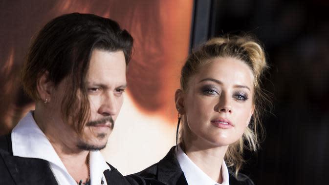 Terkuak bukti baru dari kasus KDRT Johnny Depp dan Amber Heard. (VALERIE MACON / AFP)
