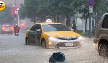 北市災變中心一級開設!公館3hrs降234毫米雨量 雙北多處淹成水世界