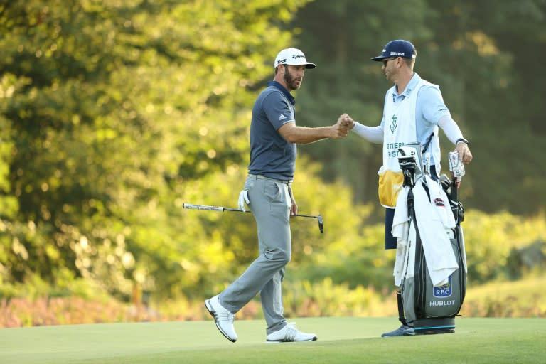 Johnson soars to five-stroke PGA lead on eagle wings