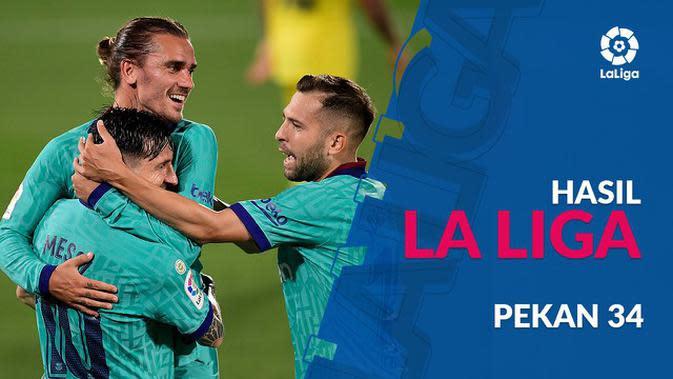 MOTION GRAFIS: Hasil La Liga Pekan 34, Barcelona dan Real Madrid Sama-sama Raih Kemenangan