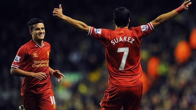 Philippe Coutinho kembali bereuni dengan Luis Suarez setelah memastikan kepindahannya ke Barcelona. (doc. Liverpool FC)