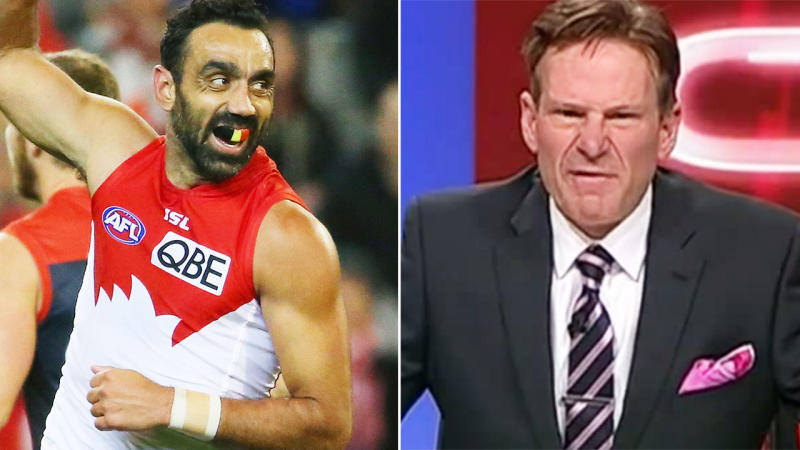 Sam Newman's criticism of Adam Goodes in 2015 has been condemned once again. Image: Getty/WIN