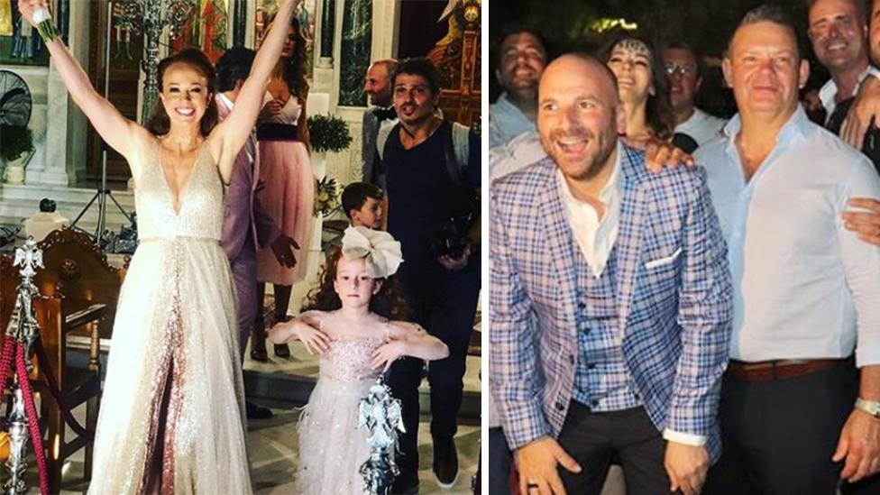 <p>Take a look at Masterchef's George Calombaris wedding to long-time partner Natalie Tricarico. Photo: Instagram </p>