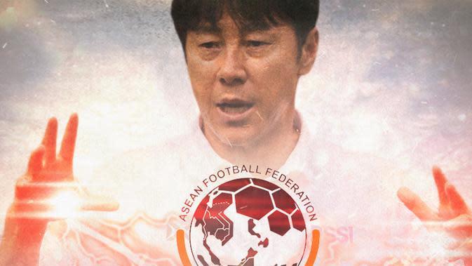 Timnas Indonesia - AFF dan Shin Tae-yong (Bola.com/Adreanus Titus)
