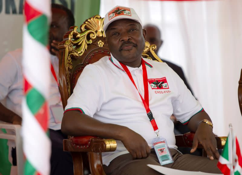 FILE PHOTO: Burundi's President Pierre Nkurunziza attends the National Council for the Defense of Democracy-Forces for the Defense of Democracy (CNDD-FDD), party's extraordinary congress in Gitega Province