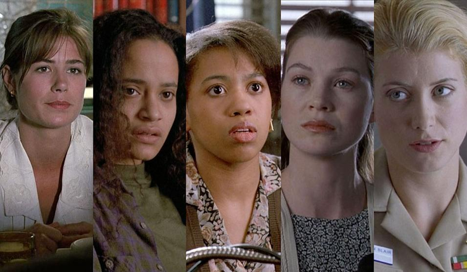 "Maura Tierney '91 -- ""Aria"" (L&O), Judy Reyes '92 -- ""Sisters of Mercy"" (L&O),Chandra Wilson '92 -- ""Cradle to Grave"" (L&O), Ellen Pompeo '96 -- ""Savior"" (L&O), Kate Walsh '97 -- ""Navy Blues"" (L&O)"