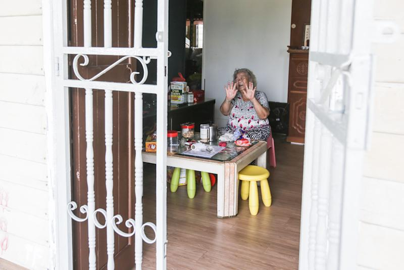 Kampung Lee Kong Chian resident Lim Poo Yong, 81, says the movement control order is necessary. Picture taken in Kuala Lumpur March 21, 2020. — Picture by Hari Anggara