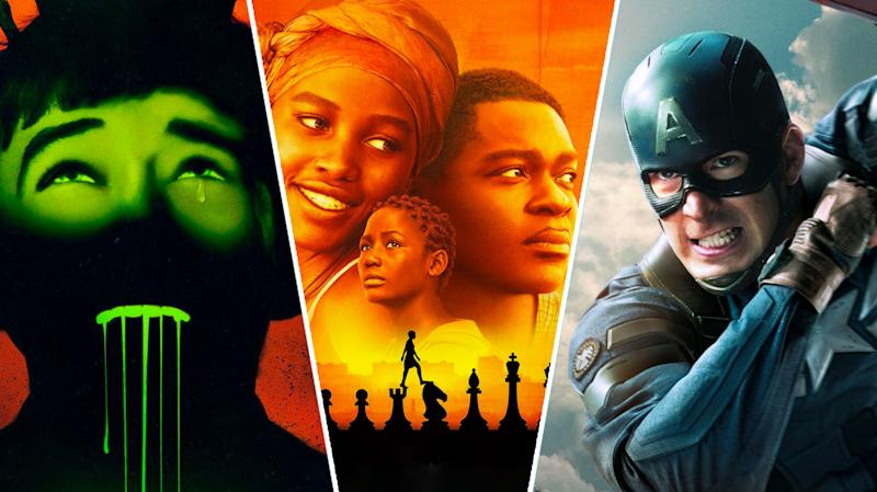 Ghost Stories, Queen of Katwe, Captain America: The Winter Soldier.