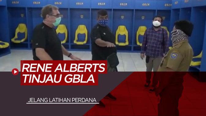 VIDEO: Pelatih Persib Bandung, Robert Alberts Tinjau Stadion GBLA Jelang Latihan Perdana