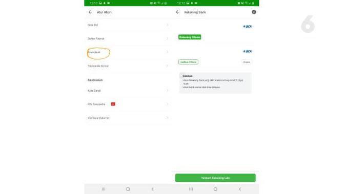 Cara hapus akun bank Tokopedia. Liputan6.com/Iskandar