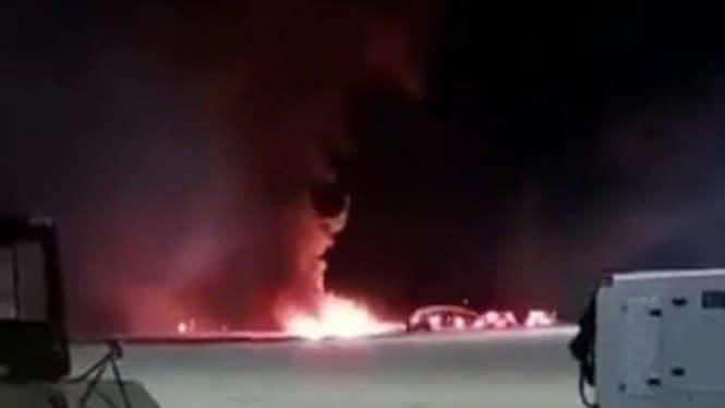 Video Mencekam Kecelakaan Tragis Jatuhnya Pesawat Tempur F-16