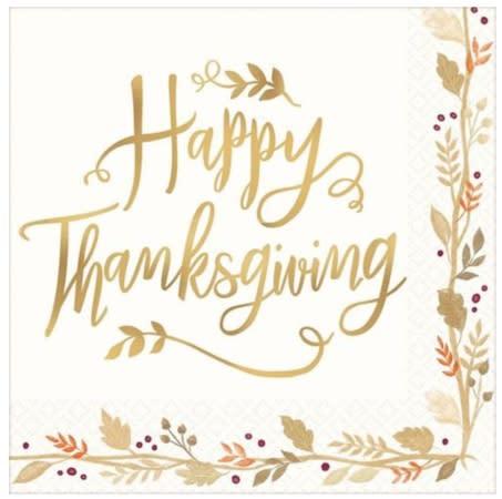 Happy Thanksgiving Napkins. (Image via Party City)