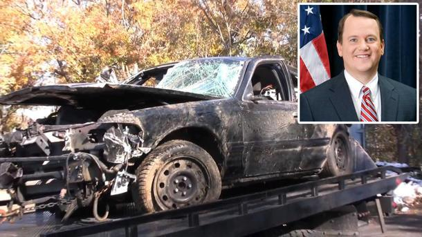 How this totaled car's black box caught a politician speeding