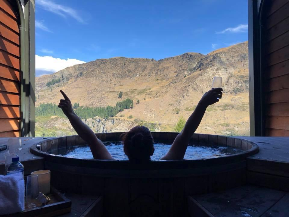 """<p>These private hot pools nestled in the moutains just outside Queenstown offer travellers a unique experience. Judging from the hastag it's a firm fave amoung couples looking for complete seculsion. The view isn't bad either. <br />Source: Instagram/<a rel=""""nofollow"""" href=""""https://www.instagram.com/thisisbex/"""">thisisbex</a> </p>"""