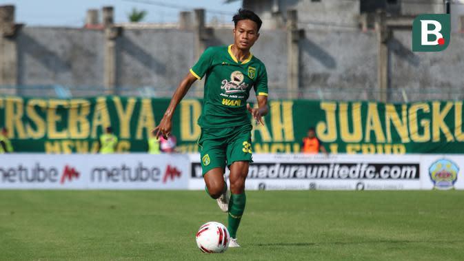 Pemain muda Persebaya Surabaya, Koko Ari Araya. (Bola.com/Aditya Wany)