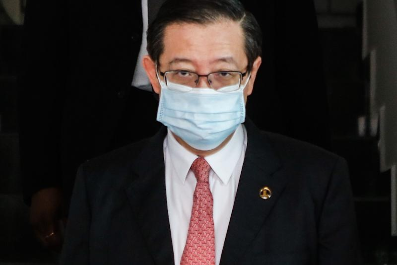 Lim Guan Eng exits the Butterworth Court Complex August 10, 2020. — Picture by Sayuti Zainudin