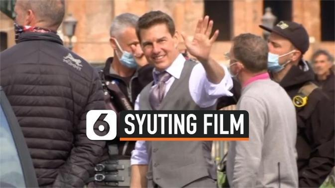 VIDEO: Tom Cruise Syuting Film 'Mission: Impossible' di Roma