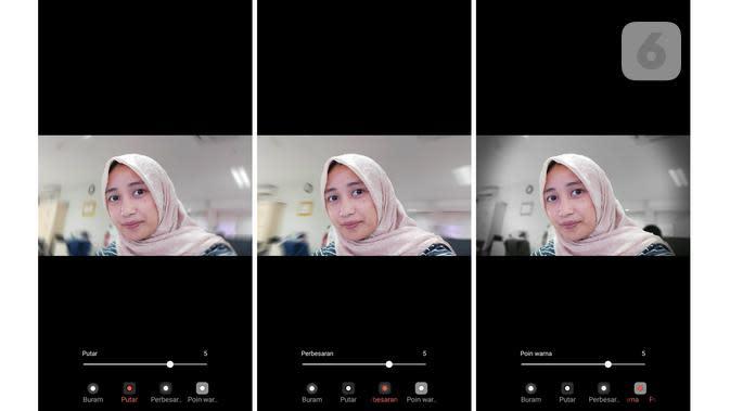 Galaxy A70 menyediakan fitur Live Focus yang bisa disesuaikan mode blur-nya (Liputan6.com/ Agustin Setyo W)