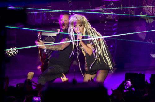 Lady Gaga Roasts Herself On a BBQ Spit, Gets Covered In Spit-Up at Bizarre SXSW Show