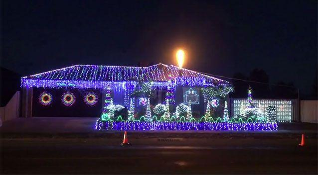 Shepparton man Greg Jaeschke has created a Christmas light spectacular to the tune of AC/
