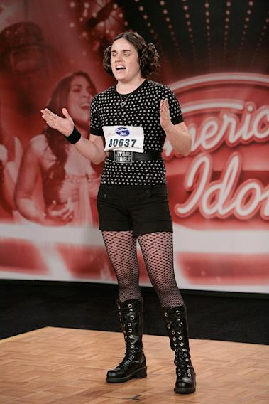 Philadelphia Contestant:  Christina Tolisano, 24, Enfield CT auditioning on the 7th season of American Idol.