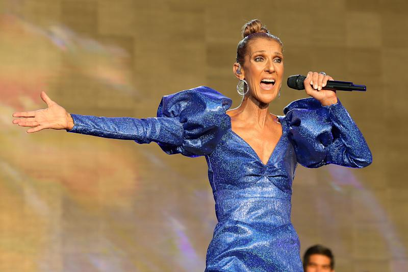 A photo of Céline Dion performing live on stage at Barclaycard Presents British Summer Time Hyde Park at Hyde Park on July 05, 2019 in London, England.
