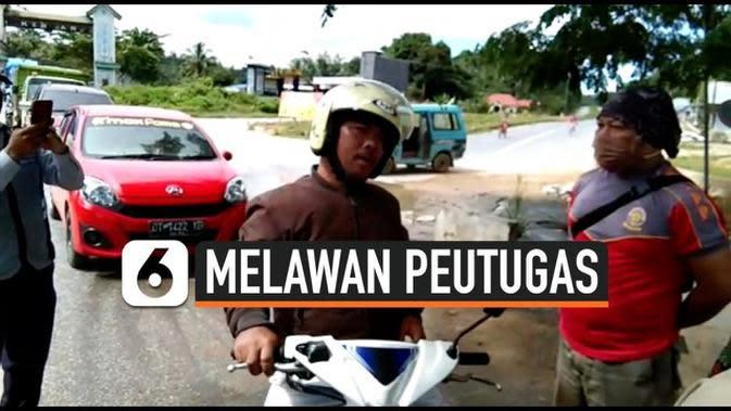 VIDEO: Viral, Tolak Pakai Masker, Anggota Polisi Lawan Petugas Pengamanan Covid-19
