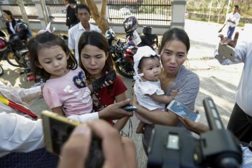 The wives and young daughters of both the journalists travelled to Naypyidaw for the hearing