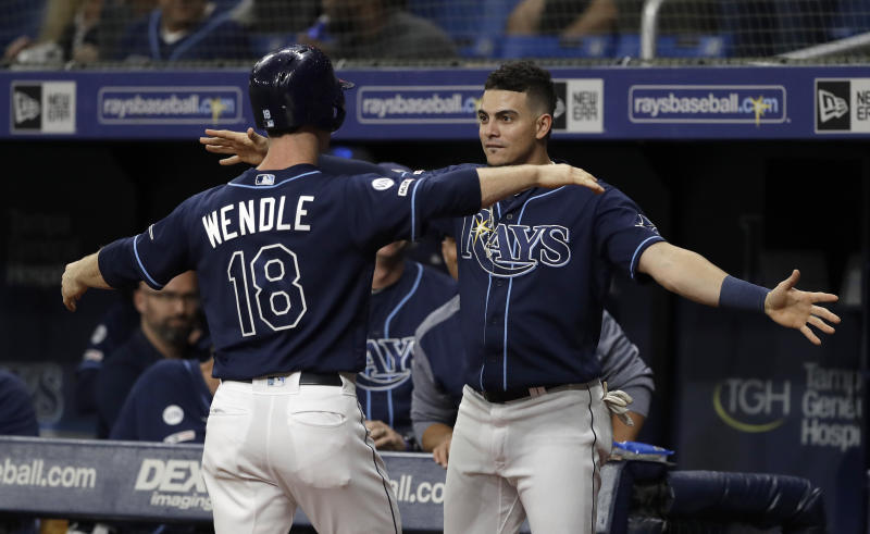 The Tampa Bay Rays are going to the postseason for the first time since 2013. (AP)