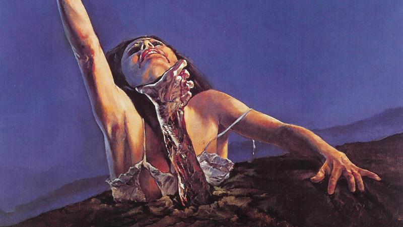 Poster for Sam Raimi's 1981 classic 'The Evil Dead'. (Credit: New Line Cinema)