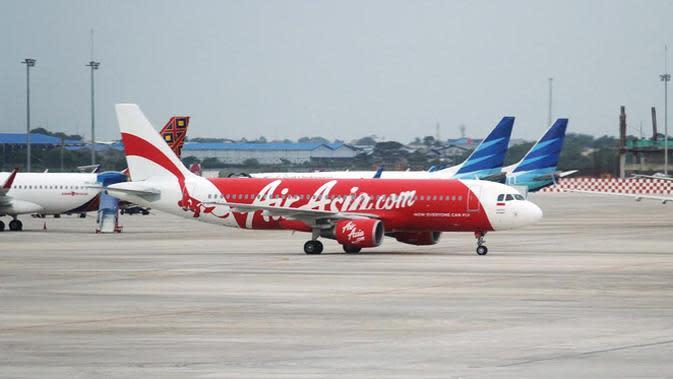 Pesawat AirAsia. (Liputan6.com/Faizal Fanani)