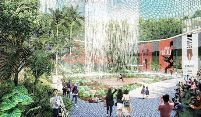 The public open space in Shenzhen's new city centre will feature four distinct environments. Photo: Handout