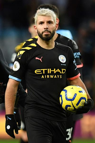 Top of the charts: Sergio Aguero is now the top scoring foreign player in Premier League history with 177 goals