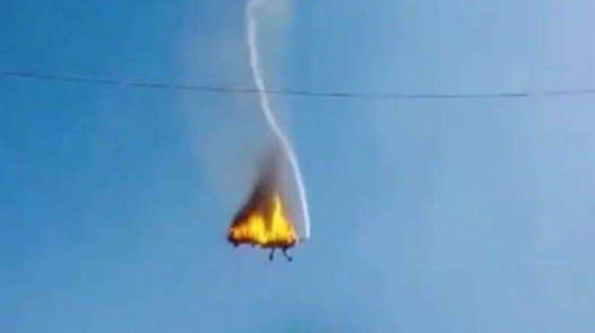 VIVA Militer: Pesawat tiruan hancur ditembak drone Q-Reaper Drone